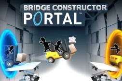 Download Bridge Constructor Portal MOD APK + DATA Versi 1.0 for Android Full HACK Terbaru 2018 Gratis