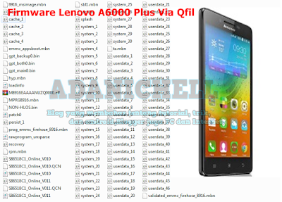 Firmware Lenovo A6000 Plus Via Qfil