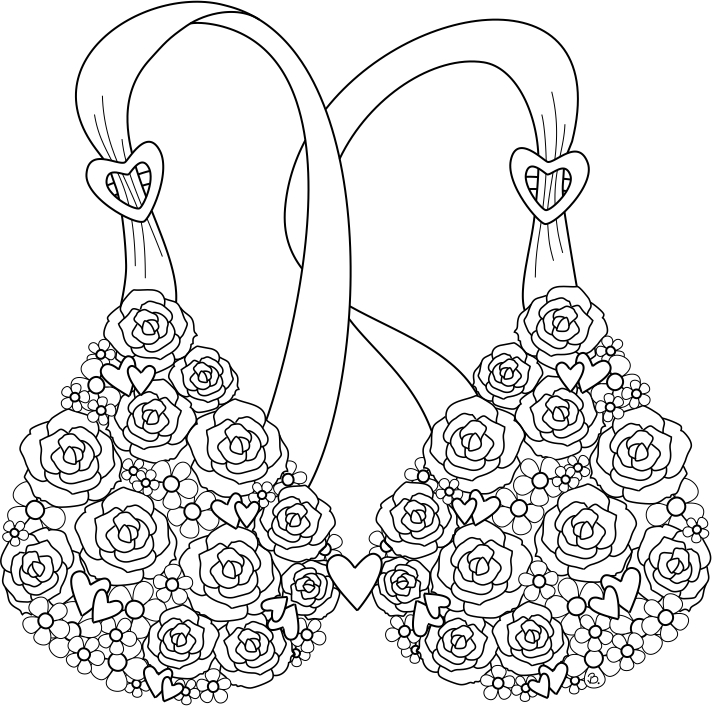 breast coloring pages - photo#1