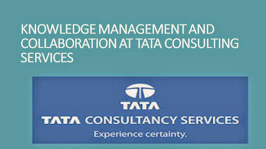 knowledge management and collaboration at tata consultancy services case study Demand and supply estimation imagine that you work for the maker of a leading brand of low-calorie, frozen microwavable food that estimates the following demand equation for their product using data from 26 supermarkets around the country for the month of april.
