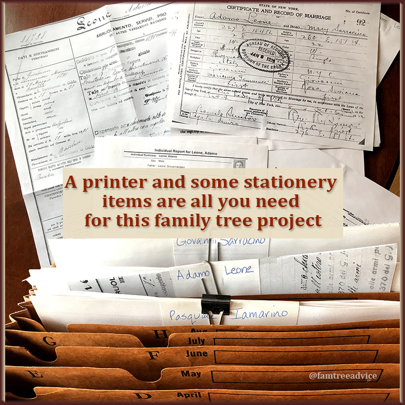 Create a family-history-to-go collection of full-sized documents.