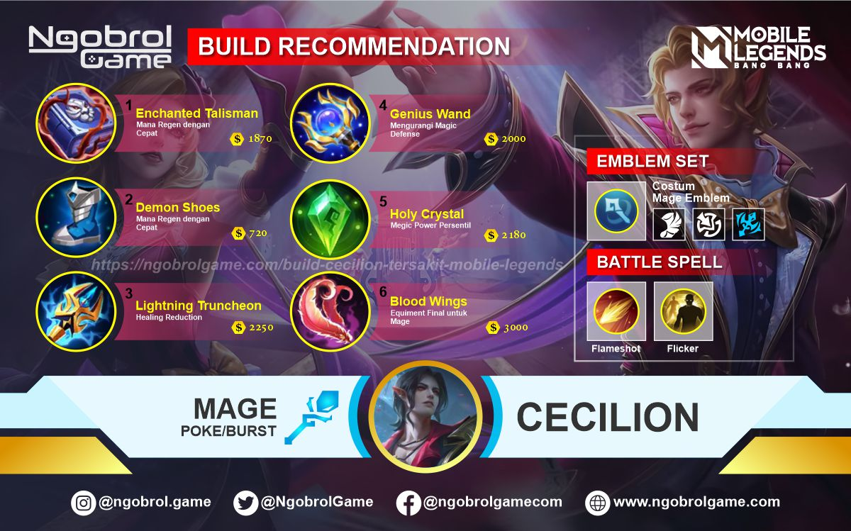 Build Cecilion  Top Global Tersakit Mobile Legends