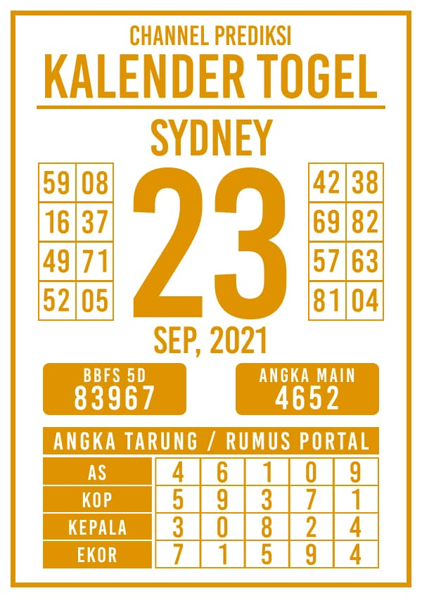 Prediksi Kalender Sydney