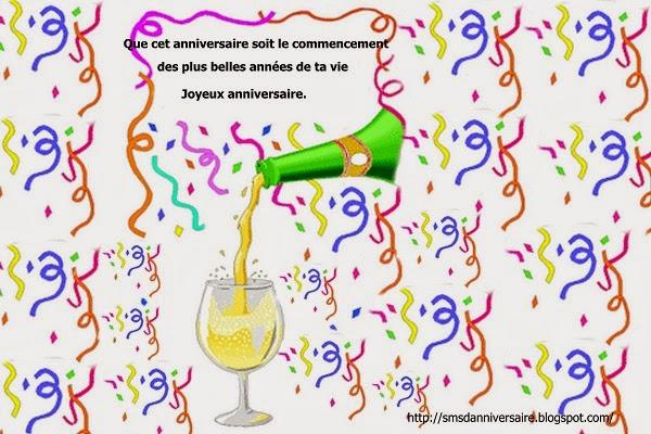 message anniversaire