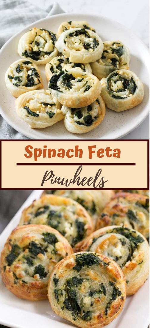 Spinach Feta Pinwheels #food #lunchrecipe #vegan #vegetarianrecipe #easyrecipe