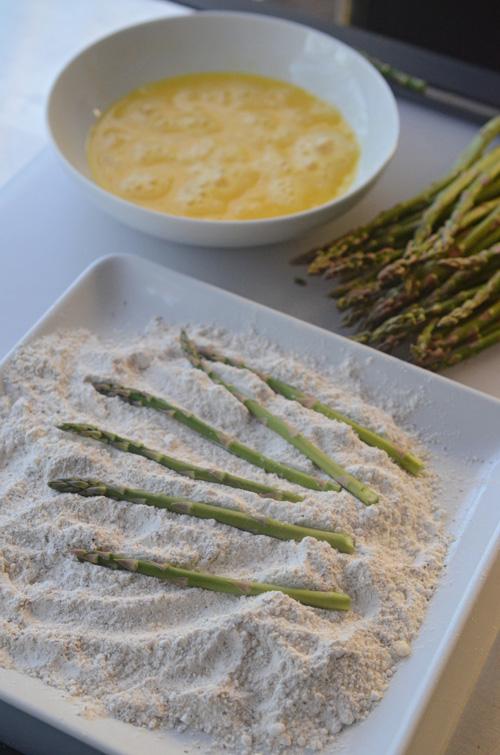 How I deep fry asparagus