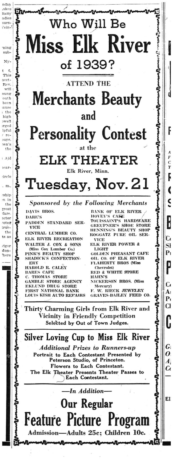 beauty contests have been the rage of popularity in the united states in 1939 while the country emerged from economic doldrums the miss elk river beauty