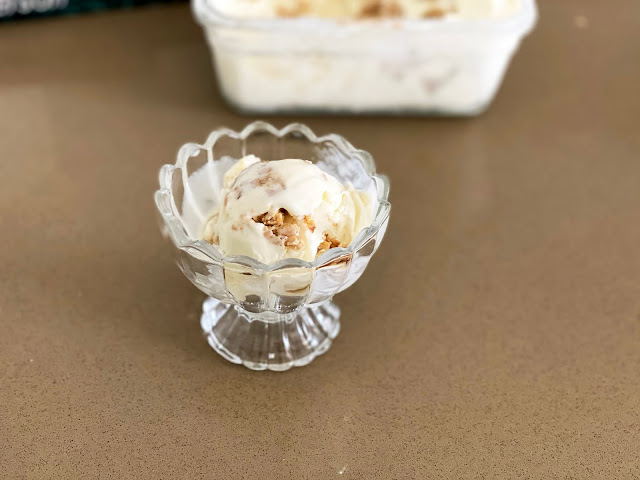 Recipe for Toffee Oat Cookie Dough Ice Cream by freshfromthe.com.