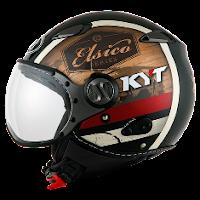 Helm KYT Elsico Seri 4 Black Cream