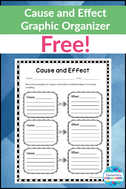 This cause and effect organizer is free!  It goes great with the mentor text found on this post.