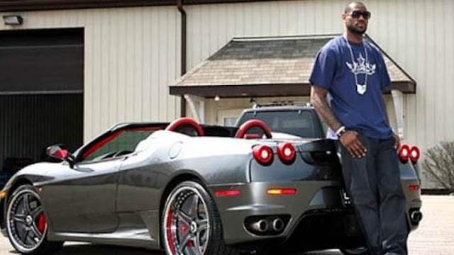 LeBron James owns a Ferrari F430 Spider