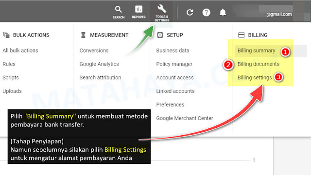Cara Bayar Iklan di Google AdWords (Google Ads) via Transfer Bank