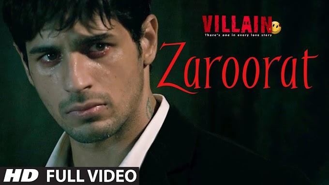 Zaroorat Lyrics | Lyrics Of Zaroorat Ek Villain | Siddharth Malhotra | Shraddha Kapoor | Zaroorat Lyrics Ek Villain |