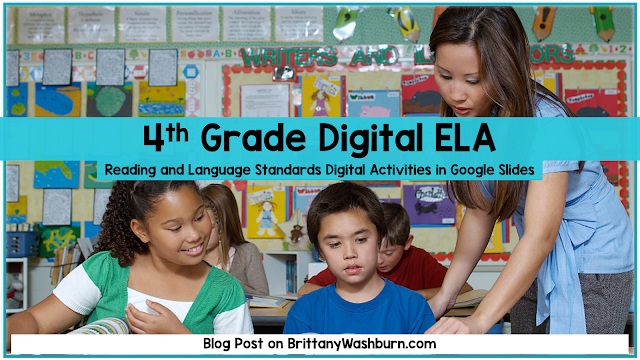 4th Grade Digital ELA Activities