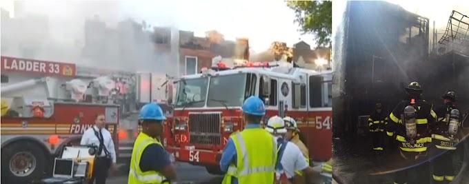 Familias dominicanas desplazadas en infernal incendio en El Bronx que dejó ocho bomberos lesionados