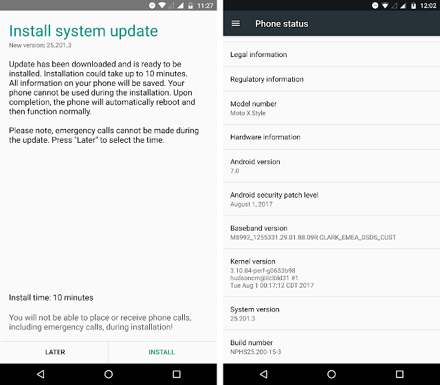 Moto X Style gets August Security Patch in India