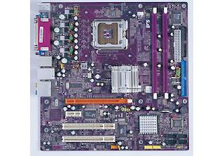 Ecs 945g-m3 motherboard w/ 2gb ram, i/o panel, fan/heatsink & cpu.