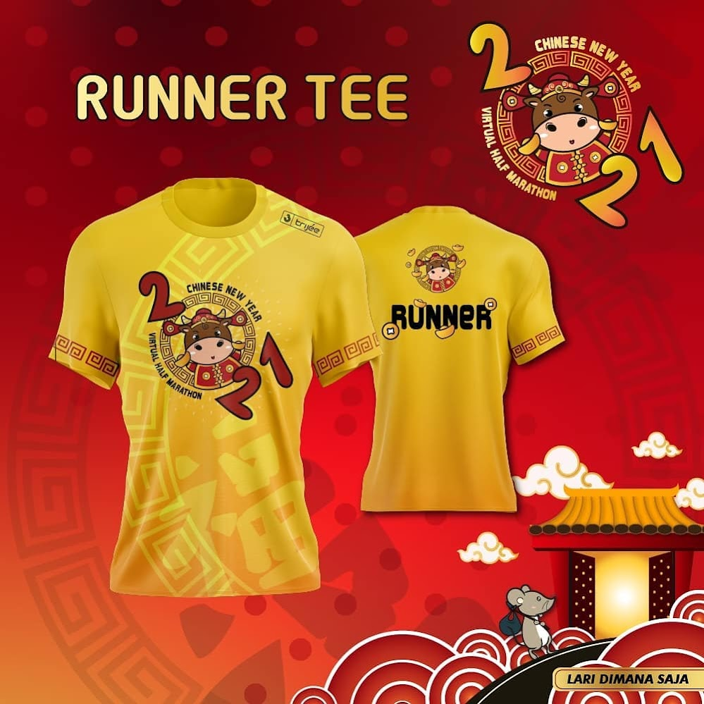 Running Tee - Chinese New Year Virtual Half Marathon • 2021