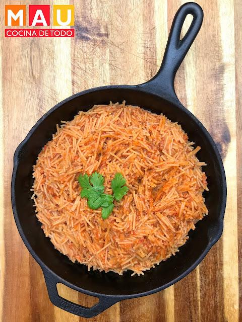 sopa de fideo seco receta facil la nacional chorizo monterrey