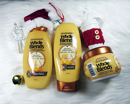 Give the Gift of #GarnierCanada Products Garnier Whole Blends Honey Treasure
