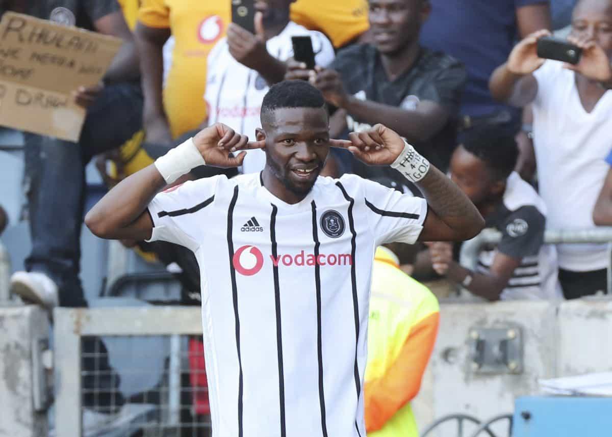 Orlando Pirates striker Tshegofatso Mabasa