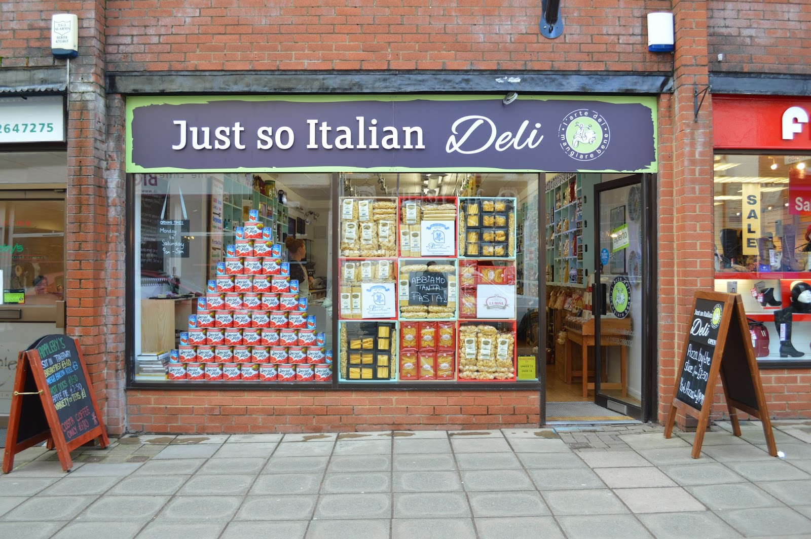 Just So Italian Deli Shopfront