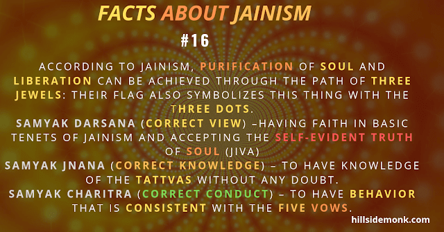 JAIN purification of soul and liberation - three jewels Jainism