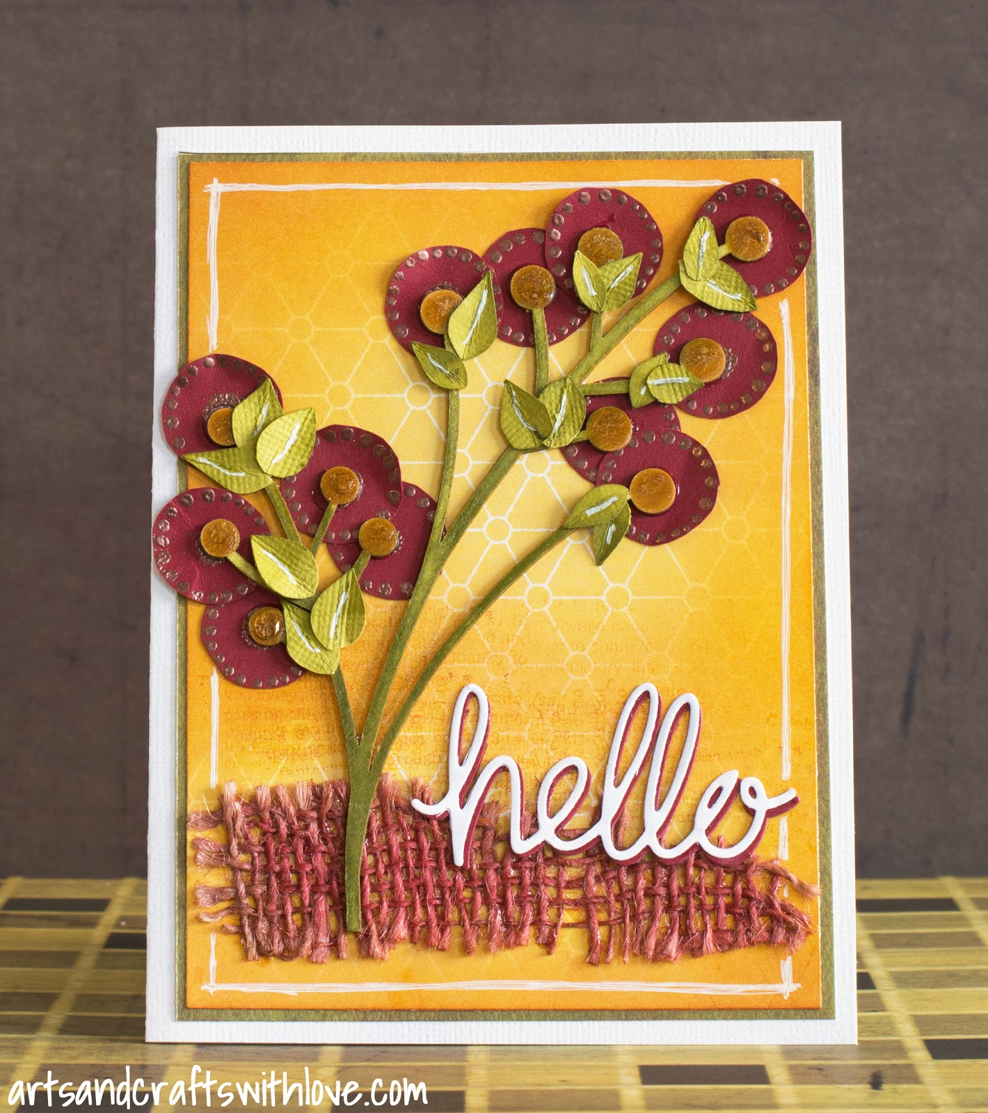 Cardmaking: Colourful card for a friend