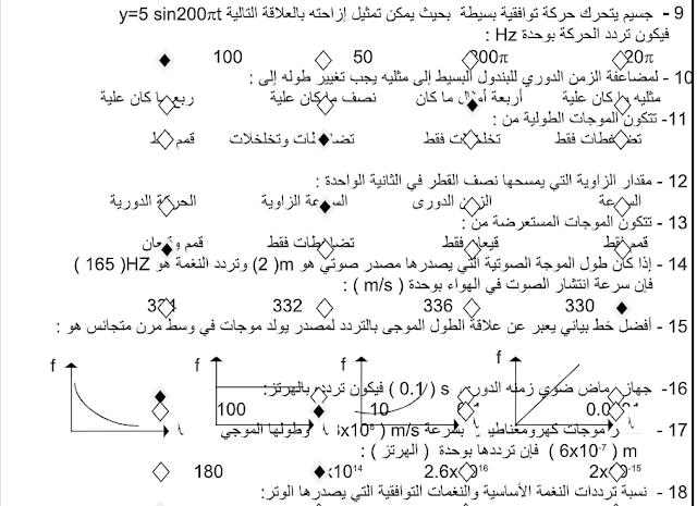 حل بنك أسئلة فيزياء الصف العاشر الفصل الثاني اللجنة الفنية المشتركة