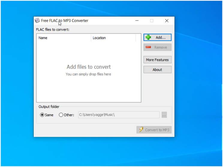 Free FLAC to MP3 Converter : Μετατροπή αρχείων  FLAC σε MP3