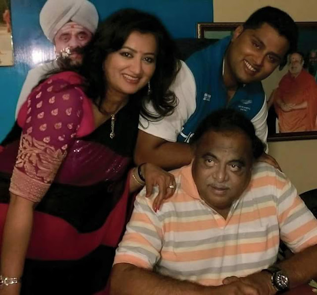 Ambareesh  with Sumalatha  and son Abishek Ambareesh