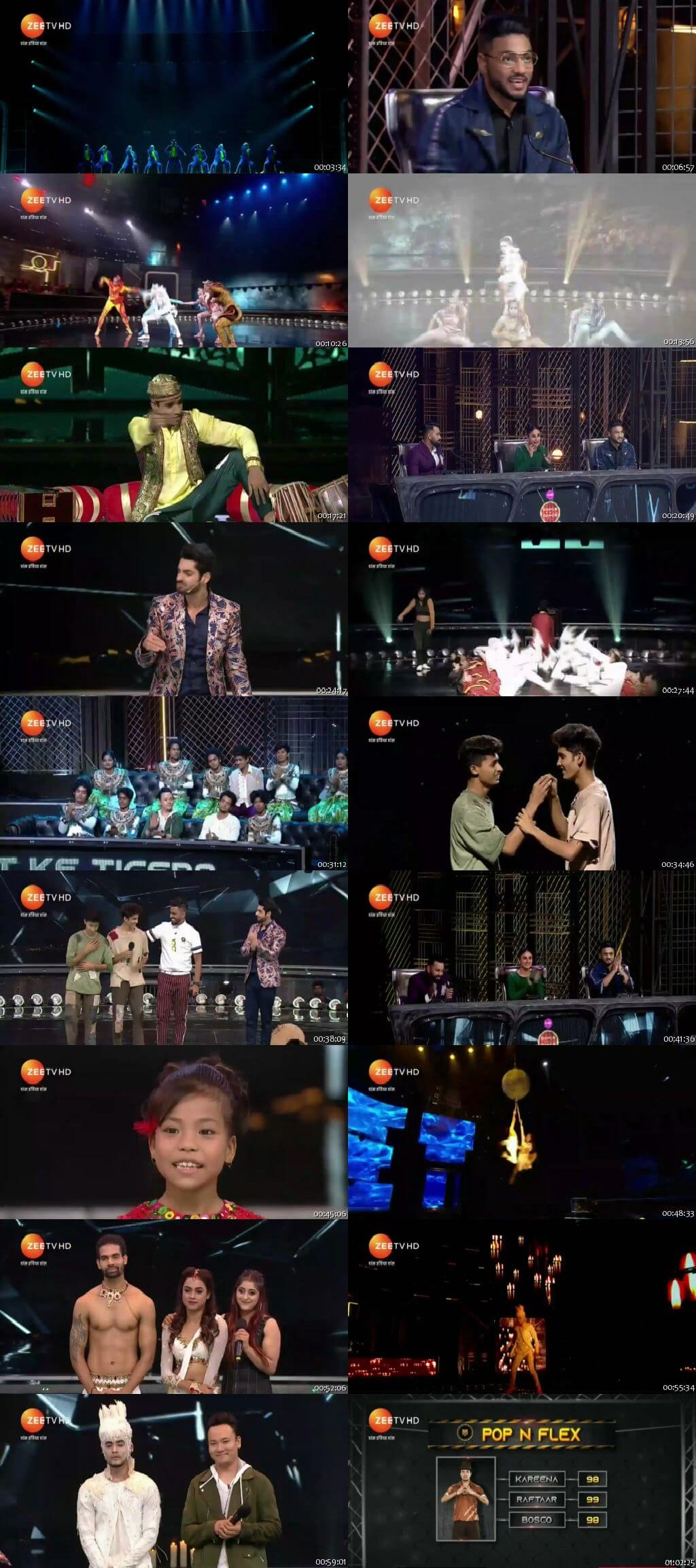 Screenshots Of Hindi Show Dance India Dance Battle of the Champions Season 7 30th June 2019 Episode 04 300MB 480P HD