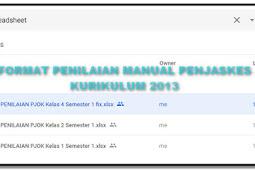 Format Penilaian K-13 PJOK Semester 1 TP. 2018/2019