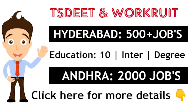 TSDEET Various jobs at Hyderabad and Andhrapradesh Apply Now