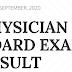 September 2020 Physician Board Exam Result