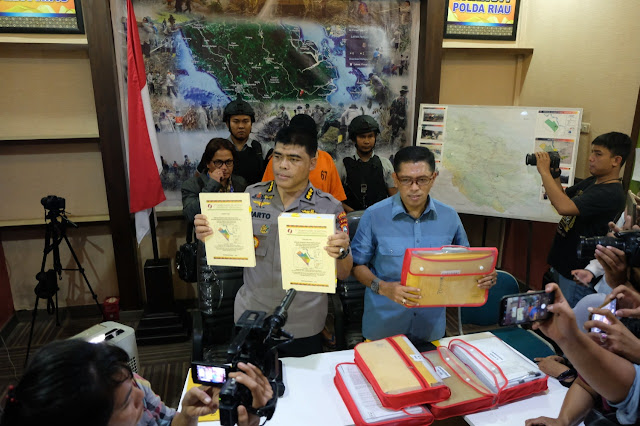 Penyidik Polda Riau Tetapkan Dan Tahan TSK Korporasi PT. SSS