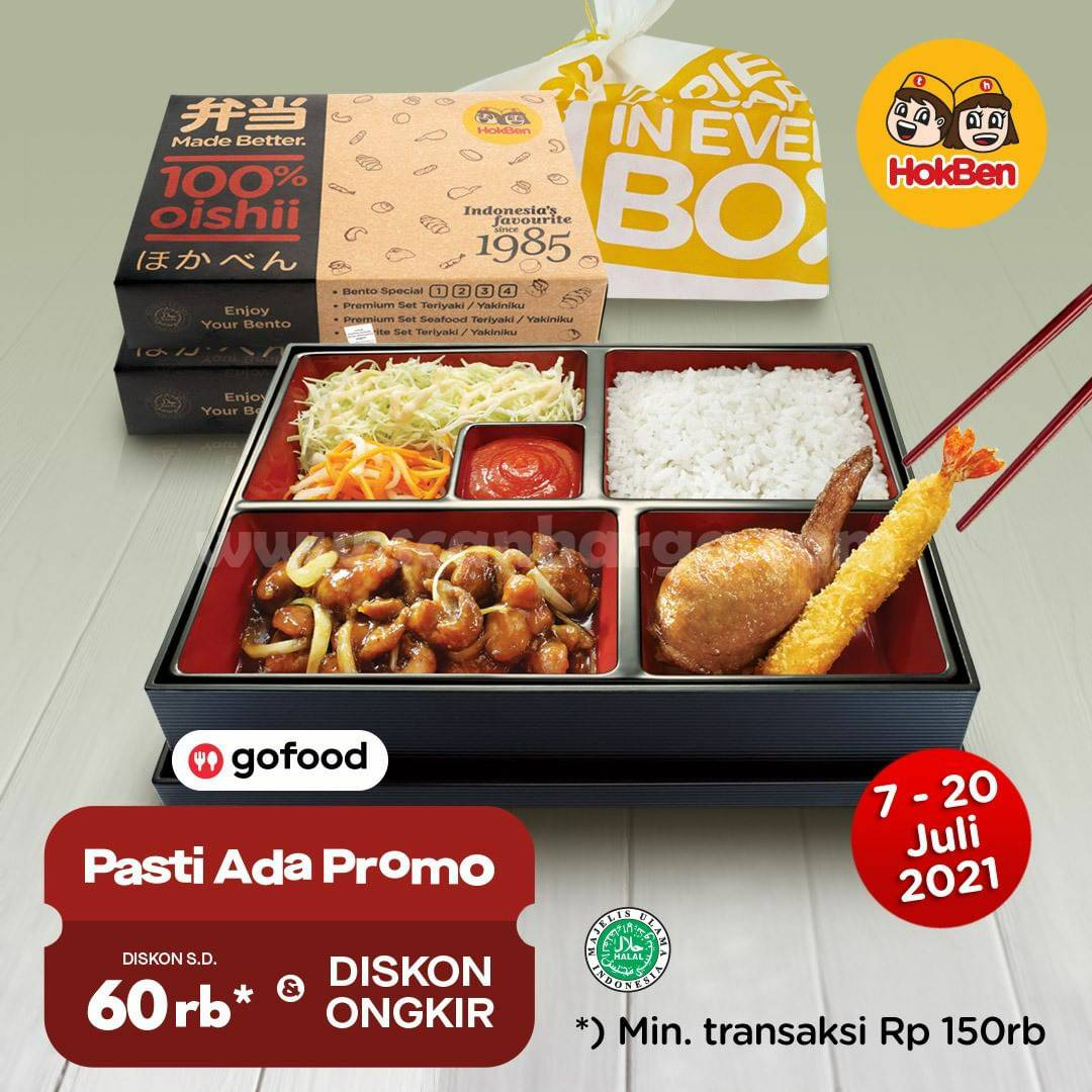 HOKBEN Promo KAMIS MANIS (Beli Bento Special 1 + Tehbotol Sosro GRATIS Es Ogura)