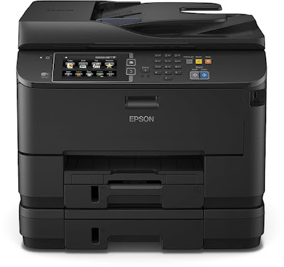 amount duplex multifunction printer that is only every bit fast every bit a Light Amplification by Stimulated Emission of Radiation printer Epson Workforce Pro WF-4640DTWF Driver Downloads