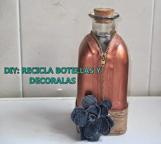 DIY: BOTELLA (Reciclada) CON CIERRE