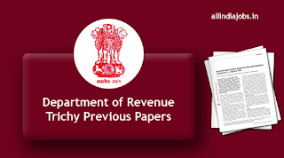 Department of Revenue Trichy Seaman Previous Papers