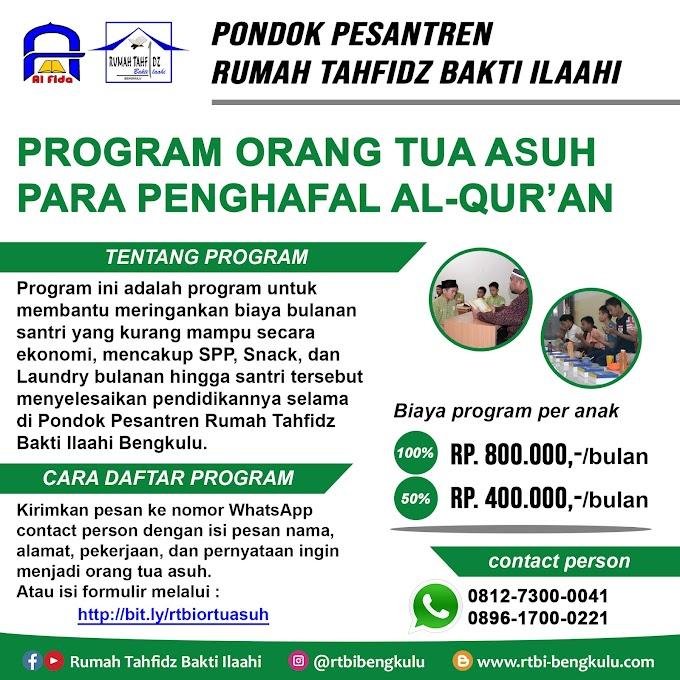 Program Orang Tua Asuh Para Penghafal Al-Qur'an