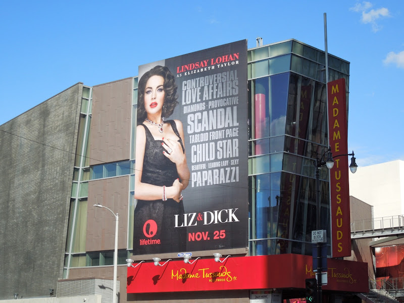 Liz Dick billboard Madame Tussauds Hollywood