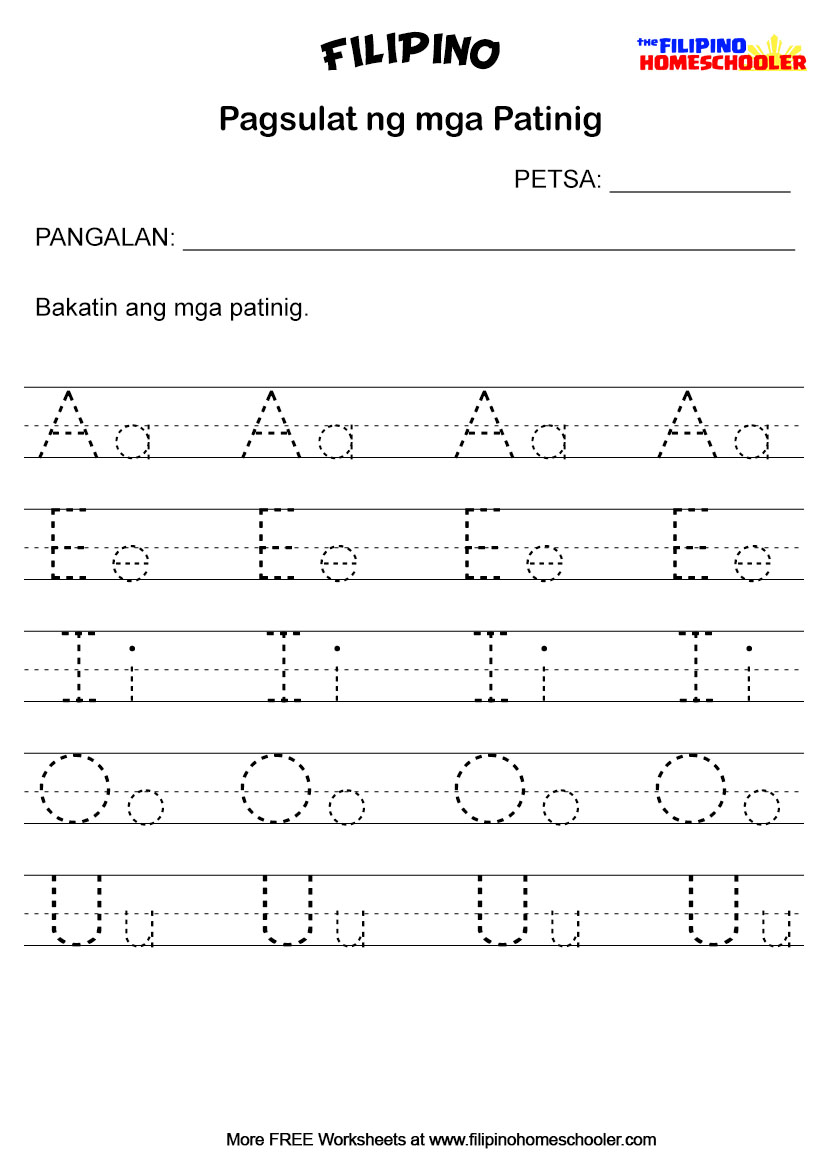 15+ New Cursive Writing Worksheet Filipino [ 1169 x 827 Pixel ]