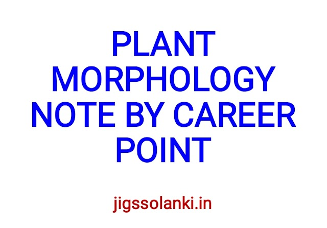 PLANT MORPHOLOGY NOTE BY CAREER POINT
