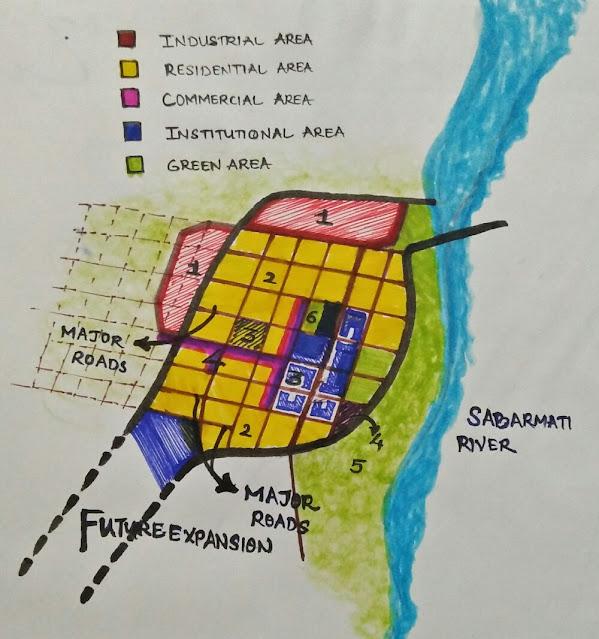 City planning of GANDHI NAGAR, AHMEDABAD