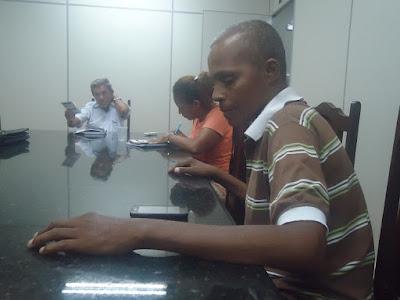Osni Pinheiro, Veluci Santos e Carlos Jesus Rodrigues(Carlito)na reunião da APPP em 17/02/2016