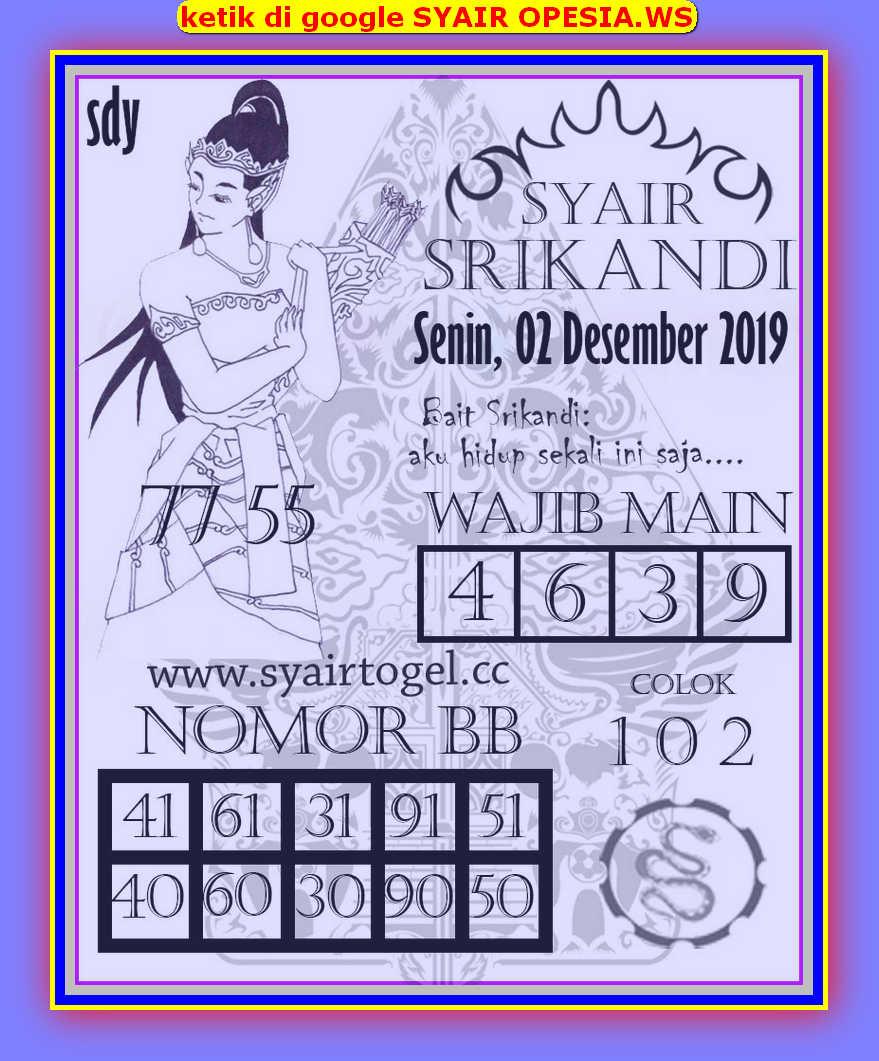Kode syair Sydney Senin 2 Desember 2019 77