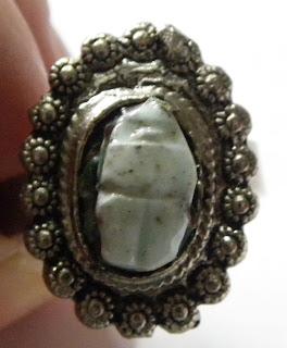 Turquoise scarab ring