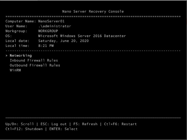 Reference - Cài đặt Nano Server 2016 trong vòng một nốt nhạc
