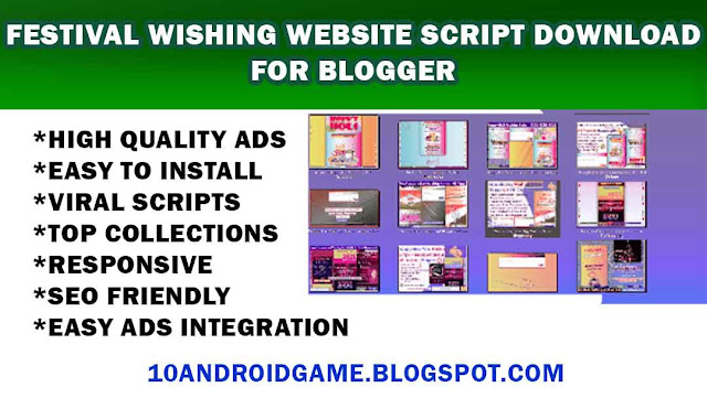 Festival Wishing Website Script Download FOR Blogger